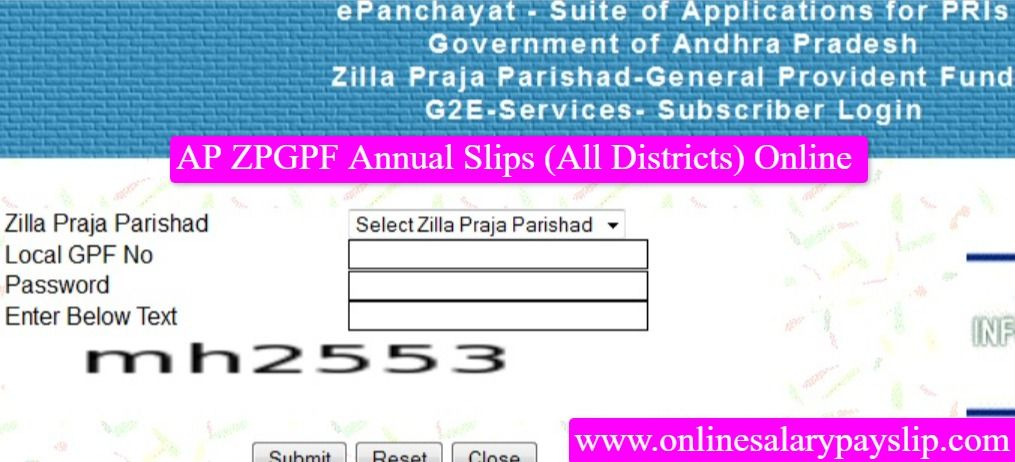 AP ZPGPF Annual Slips Online Download and Print